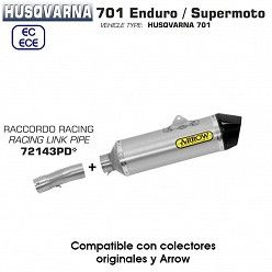 Escape Husqvarna 701 2017-2018 Arrow Race-Tech Aluminio