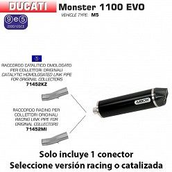 Escape Arrow Ducati Monster 1100 2011-2013 Race-Tech Dark Aluminio copa Carbono 71786AKN