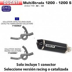 Escape Arrow Ducati Multistrada 1200 -S 2010-2014 Race-Tech Carbono copa Carbono 71768MK