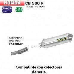 Escape Arrow Honda CB 500 - CBR 500 F 2013-2015 Race-Tech Aluminio copa Inox 71804AO