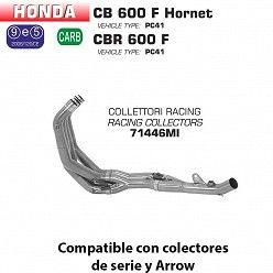 Colectores racing Arrow Honda Hornet 600 2007-2013 71446MI