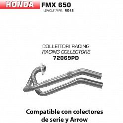 Colectores racing Arrow Honda FMX 650 2005-2008