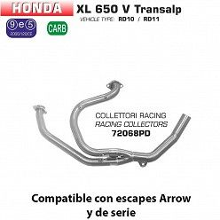 Colectores racing Arrow Honda Transalp 650 2000-2007
