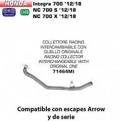 Colectores Arrow Honda Integra 700 - 750 2012-2018 racing inox