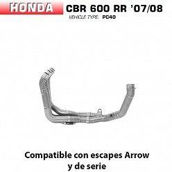 Colectores Arrow Honda CBR 600 RR 2007-2008