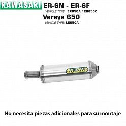 Escape Arrow Kawasaki ER-6N - 6F 2005-2011 Maxi Race-Tech Aluminio