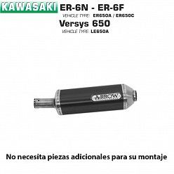Escape Arrow Kawasaki ER-6N - 6F 2005-2011 Maxi Race-Tech Dark Aluminio