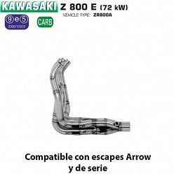 Colectores Arrow Kawasaki Z800 E 2013-2016