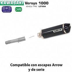 Escape Arrow Kawasaki Versys 1000 2012-2016 Racetech Carbono copa Carbono