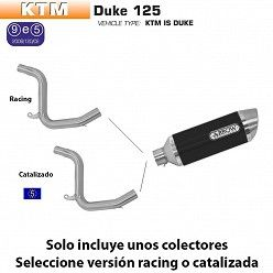 Escape Arrow KTM Duke 125 2011-2016 Street Thunder Dark Aluminio