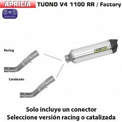 Escape Aprilia Tuono V4 1100 2017 Arrow Race-Tech Aluminio copa Carbono