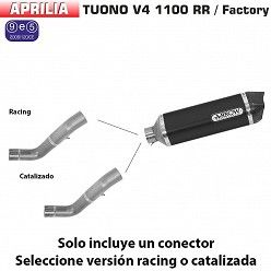 Escape Aprilia Tuono V4 1100 2017 Arrow Race-Tech Aluminio Dark copa Carbono