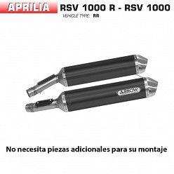 Escape Arrow Aprilia RSV 1000 R 2004-2008 Race-Tech Dark Aluminio