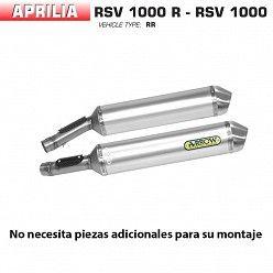 Escape Arrow Aprilia RSV 1000 R 2004-2008 Race-Tech Aluminio