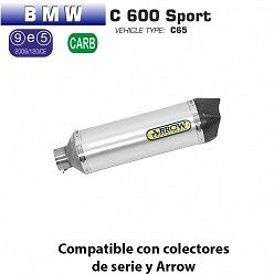 Escape Arrow BMW C600 Sport 2012-2015 Race-Tech Aluminio copa Carbono