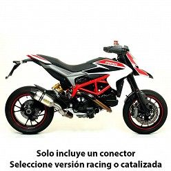 Escape Arrow Ducati Hyperstrada 2013-2018 Race-Tech Aluminio copa Carbono