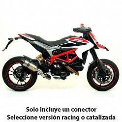 Escape Arrow Ducati Hyperstrada 2013-2018 Race-Tech Titanio copa Carbono