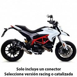 Escape Arrow Ducati Hyperstrada 2013-2018 Race-Tech Dark Aluminio copa Carbono
