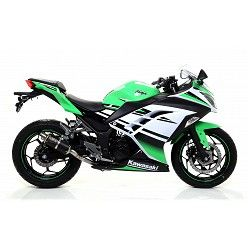 Escape Arrow Kawasaki Ninja 250 2013-2016 GP2 Steel Dark