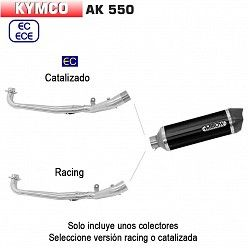 Escape Kymco AK 550 2017 - 2018 Arrow Race-Tech Aluminio Dark copa Carbono 73515AKN