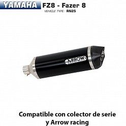 Escape Arrow Yamaha FZ8 2010-2016 Race-Tech Dark Aluminio copa Carbono