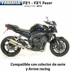 Escape Arrow Yamaha FZ1 2006-2016 Maxi Race-Tech Titanio copa Carbono