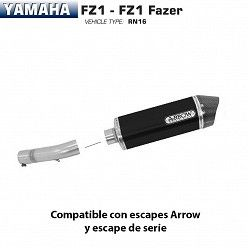 Escape Arrow Yamaha FZ1 2006-2016 Race-Tech Dark Aluminio copa Carbono