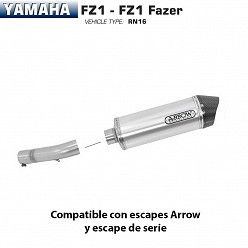 Escape Arrow Yamaha FZ1 2006-2016 Maxi Race-Tech Aluminio copa Carbono
