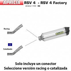 Escape Arrow Aprilia RSV4 2009-2015 Racetech Aluminio