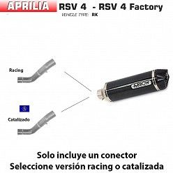 Escape Arrow Aprilia RSV4 2009-2015 Racetech Carbono