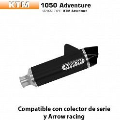 Escape Arrow KTM 1050 Adventure 2015-2016 Maxi Racetech Dark Aluminio