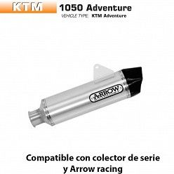 Escape Arrow KTM 1050 Adventure 2015-2016 Maxi Racetech Aluminio