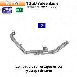 Colectores catalizados KTM 1190 Adventure 2013-2016