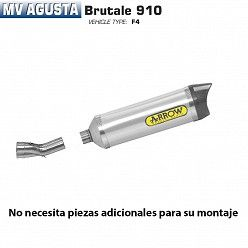 Escape Arrow MV Agusta Brutale 910 2005-2008 Street Thunder Aluminio copa Carbono