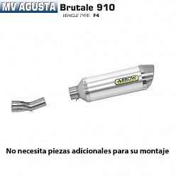 Escape Arrow MV Agusta Brutale 910 2005-2008 Street Thunder Aluminio