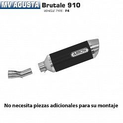 Escape Arrow MV Agusta Brutale 910 2005-2008 Street Thunder Carbono