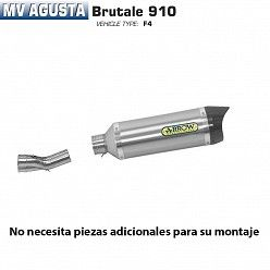 Escape Arrow MV Agusta Brutale 910 2005-2008 Street Thunder Titanio copa Carbono