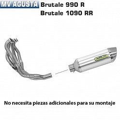 Escape completo Arrow MV Agusta Brutale 920 2011-2012 Street Thunder Aluminio