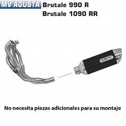 Escape completo Arrow MV Agusta Brutale 920 2011-2012 Street Thunder Carbono