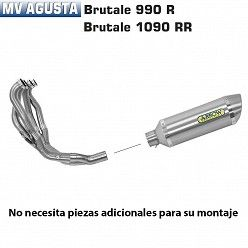 Escape completo Arrow MV Agusta Brutale 920 2011-2012 Street Thunder Titanio