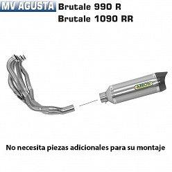 Escape completo Arrow MV Agusta Brutale 920 2011-2012 Street Thunder Titanio copa Carbono