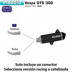 Escape Arrow Piaggio Vespa GTS 300 2008-2015 Urban Dark Aluminio