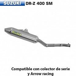 Escape Arrow Suzuki DR-Z 400 Supermotard 2005-2007 Off-Road Thunder Titanio
