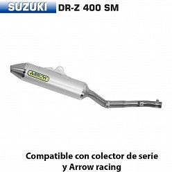 Escape Arrow Suzuki DR-Z 400 Supermotard 2005-2007 Off-Road Thunder Aluminio