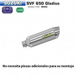 Escape Arrow Suzuki Gladius 650 2009-2015 Street Thunder Titanio copa Inox