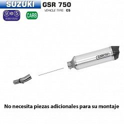 Escape Arrow Suzuki GSR 750 2011-2016 Racetech Aluminio copa Carbono