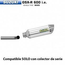 Escape Arrow Suzuki GSX-R 600 2006-2007 Street Thunder Aluminio