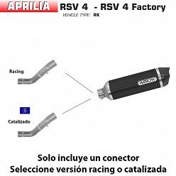 Escape Arrow Aprilia RSV4 2009-2015 Racetech Dark Aluminio