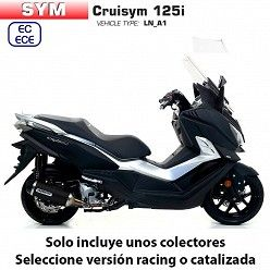 Escape completo Arrow SYM Cruisym 125 2018 Urban Dark Aluminio