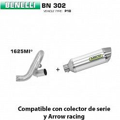 Escape Benelli BN 302 2017-2019 Arrow Thunder Aluminio copa Inox